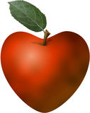Heart shaped apple Stock Photos