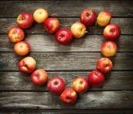 Heart shaped apples Stock Photo