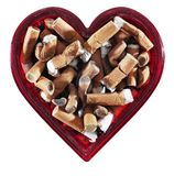 Heart Shaped Ashtray Royalty Free Stock Photography