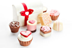 Heart shaped assorted Chocolate Royalty Free Stock Photo