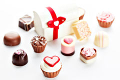 Heart shaped assorted Chocolate Stock Image