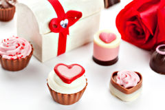 Heart shaped assorted Chocolate Royalty Free Stock Photos
