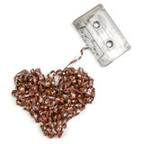 Heart shaped audio tape Stock Photo