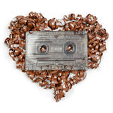 Heart shaped audio tape Stock Images