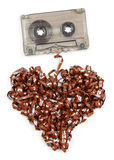 Heart shaped audio tape Stock Image