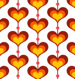 Heart shaped background Stock Image