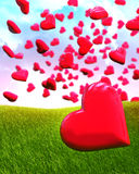 Heart shaped balloon Royalty Free Stock Photo
