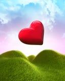 Heart shaped balloon Stock Photos