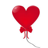 Heart-shaped balloon Stock Images