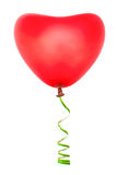 Heart shaped balloon and streamer stock images