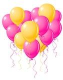 Heart shaped balloons Stock Photo