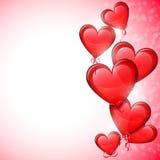 Heart Shaped Balloons Stock Image