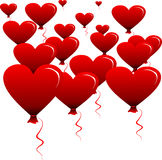 Heart-shaped balloons 1 Stock Images