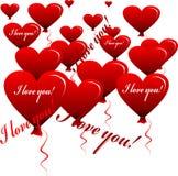 Heart-shaped balloons 2 Stock Photography
