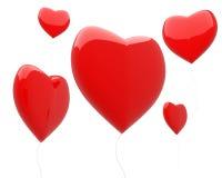 Heart-shaped balloons isolated Royalty Free Stock Photography