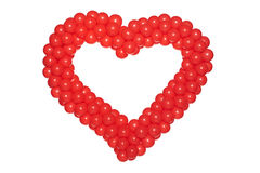 Heart shaped balloons Stock Images