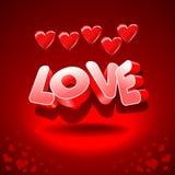 Heart-shaped balloons and love Stock Photos