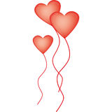 Heart-shaped balloons for Valentine's Day Royalty Free Stock Photos