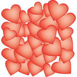 Heart-shaped balloons for Valentine's Day Royalty Free Stock Images