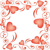 Heart-shaped balloons for Valentine's Day Royalty Free Stock Image