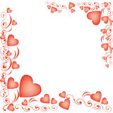 Heart-shaped balloons for Valentine's Day Royalty Free Stock Photo