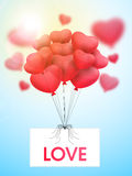Heart shaped balloons for Valentine's Day celebration. Royalty Free Stock Images