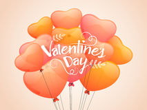 Heart shaped balloons for Valentine's Day. Royalty Free Stock Images