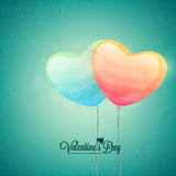 Heart shaped balloons for Valentine's Day. Stock Images