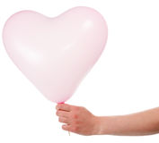 Heart shaped baloon Stock Photos