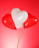 Heart shaped baloons Stock Image