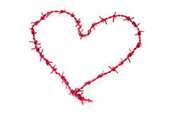 Heart-shaped barbed wire Royalty Free Stock Photos