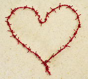 Heart-shaped barbed wire Royalty Free Stock Image