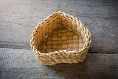 Heart shaped basket Stock Photo