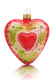 Heart shaped bauble Royalty Free Stock Images
