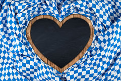 Heart shaped bavarian blackboard Royalty Free Stock Photo