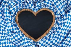 Heart shaped bavarian blackboard Royalty Free Stock Photo