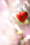 Heart-shaped bell for love and Valentine's Day. Stock Image