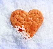 Heart shaped biscuit Royalty Free Stock Image