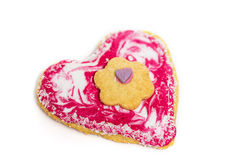 Heart shaped Biscuit Royalty Free Stock Photo