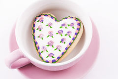 Heart-shaped biscuit Royalty Free Stock Images