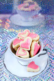 Heart shaped biscuits Stock Photography