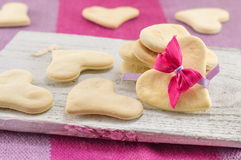 Heart shaped biscuits Royalty Free Stock Photography