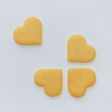 Heart shaped biscuits Stock Photos