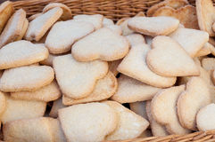 Heart shaped biscuits Stock Images