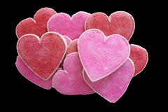 Heart-shaped biscuits for Valentine's Day Stock Image