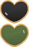 Heart shaped black boards Stock Photography