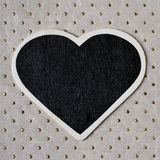 Heart-shaped blackboard Royalty Free Stock Image