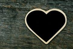 Heart-shaped blackboard Royalty Free Stock Images