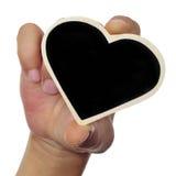 Heart-shaped blackboard Stock Photography
