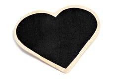 Heart-shaped blackboard Stock Image